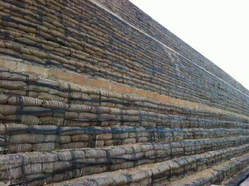 geogrid to reinforce retaining wall