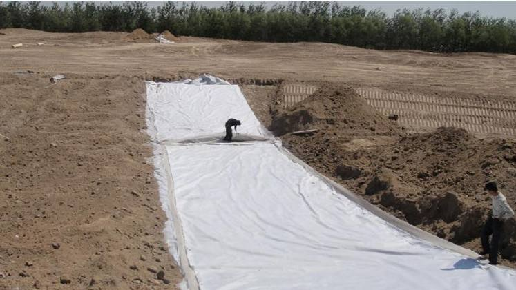 geotextile and geomembrane
